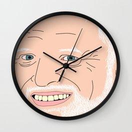 Hide Your Feelings Harold Portrait Wall Clock