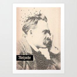 Inspired By Words — Frederich Nietzsche  Art Print
