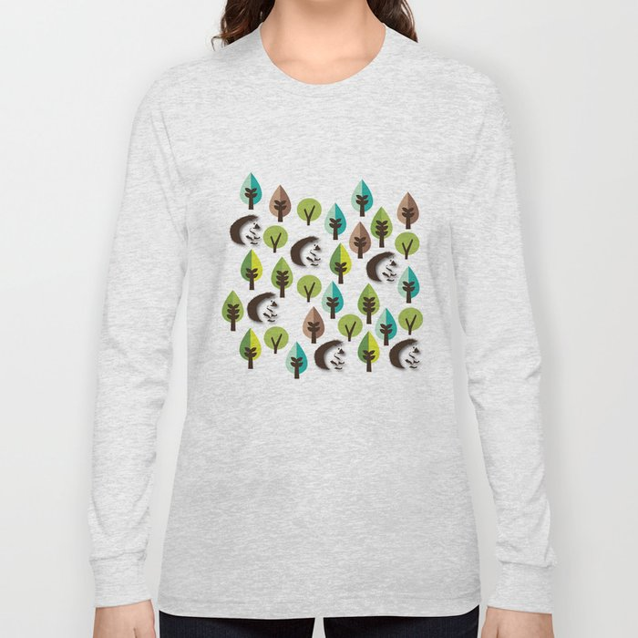 Hedgehog Forest Long Sleeve T-shirt
