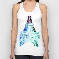 Parisian Mosaic - Piece 21 - The Eiffel Tower Night Light Unisex Tank Top