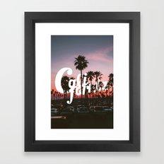 Balboa Pier, California Framed Art Print