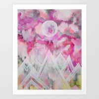 Under a Lava Moon Print Art Print