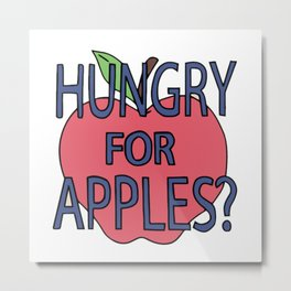 Hungry For Apples Metal Print