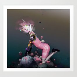 Pink Rubbergum Art Print