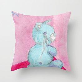 Don't Care Bear Throw Pillow