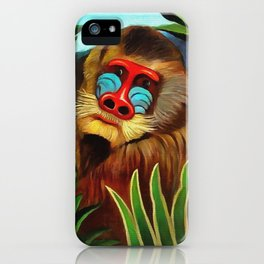 Henri Rousseau Mandrill In The Jungle iPhone Case