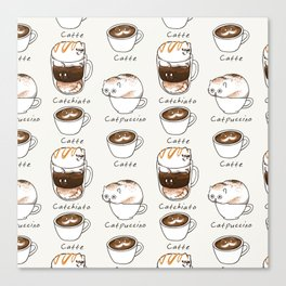 Coffee Right Meow Canvas Print
