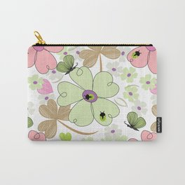 Butterfly & Floral Pattern Carry-All Pouch