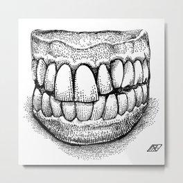 Grandpa's Dentures Metal Print