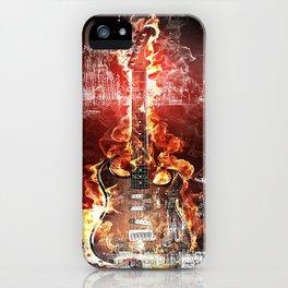 Brennende Gitarre iPhone Case