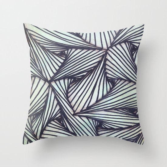 Throw Pillow Doodle : Zentangle Doodle Throw Pillow by Sinonelineman Society6