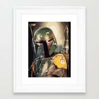 boba Framed Art Prints featuring Boba  by Iris Chadab