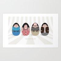 seinfeld Art Prints featuring Seinfeld by jengart