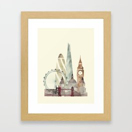 London skyline art Framed Art Print