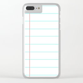 Lined Notebook Paper Clear iPhone Case