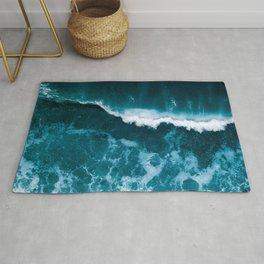Wild Blue Ocean Wave – Oceanscape Photography Rug
