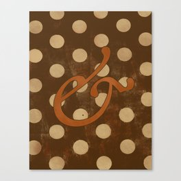 Garamond Italic Ampersand Canvas Print