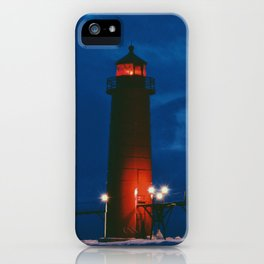 Lighthouse in the Night iPhone Case