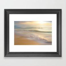 caribbean dream (pastel) Framed Art Print