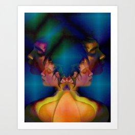 Natasha Psychedelic Art Print