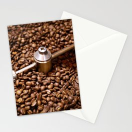 Freshly roasted coffee beans Stationery Cards