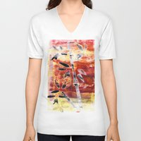 bamboo V-neck T-shirts featuring bamboo by Kras Arts - Fly Me To The Moon