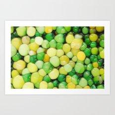 Lemon Lime Abstract Art Print