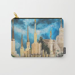 Zion's LDS Temples Painting Carry-All Pouch
