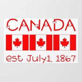Canada Day Maple Leaf Pattern Canadian Flag Rug