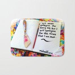 Inspirational Quotes: Acrylic Alchemy Art Journal-Apology Bath Mat
