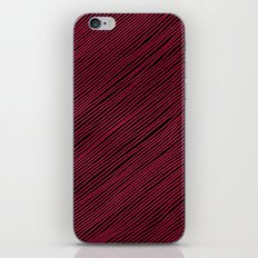 Stripes - Red iPhone & iPod Skin