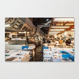 Tsukiji FishMarket Canvas Print