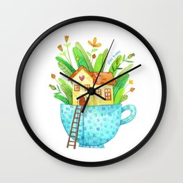 Stay Home / Cup House Wall Clock