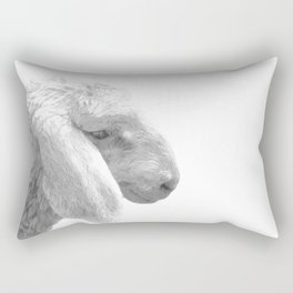 Black and White Sheep Rectangular Pillow
