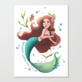 Summer Mermie Canvas Print