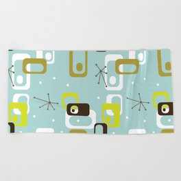 Atomic Turquoise Beach Towel