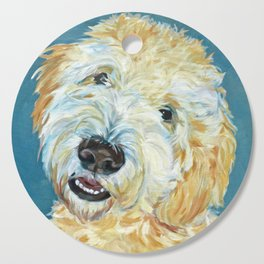 Stanley the Goldendoodle Dog Portrait Cutting Board