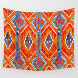 navajo ikat print medium Wall Tapestry