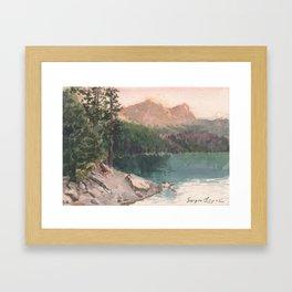 Sierra Buttes in August Framed Art Print