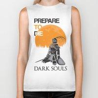 dark souls Biker Tanks featuring Dark Souls by billydragon77