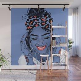 Minimal tattooed girl Wall Mural