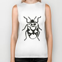 insects Biker Tanks featuring Insects by Kim Cooper Collections