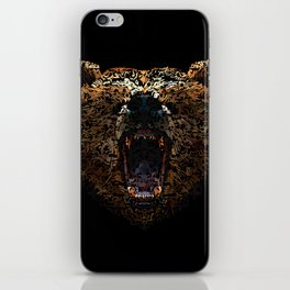 Floral Bear iPhone Skin