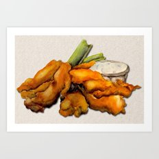 Buffalo Chicken Art Print