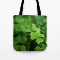clover Tote Bags featuring Clover by Michelle McConnell