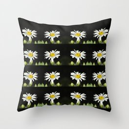 A Lonely Daisy Throw Pillow