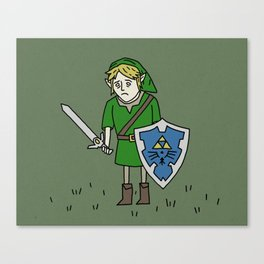 Sad Link in a Field Canvas Print