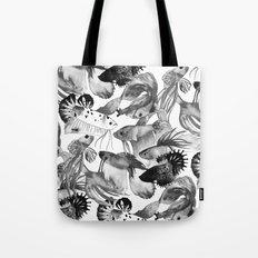 Somber Siamese Angel Fish Tote Bag