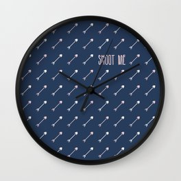 Shoot me with love Wall Clock