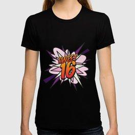 Comic Book Pop Art SWEET 16 T-shirt